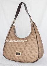 1dd8711b340 GUESS Reama Signature Logo Bag Purse Hobo Handbag Sac G Charm Brown New