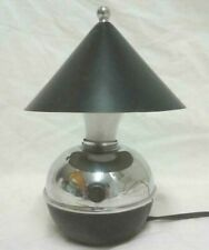 "Art Deco Chase ""Glow Lamp"" Designed by Ruth Gerth Black Enamel and Chrome Rare"
