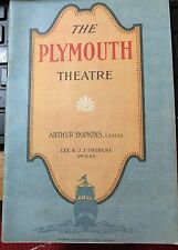 "1922 NYC BROADWAY PLAYBILL PLYMOUTH THEATRE ""THE OLD SOAK"""