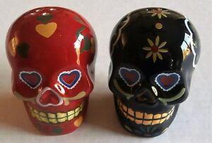 Halloween Salt and Pepper Sets  COLORFUL SKULL'S