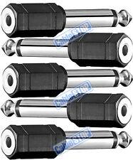 "5 x 6.35mm 1/4"" MONO Plug to 3.5mm MONO Female Socket Headphone Audio Adapter"