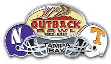 Official 2016 Outback Bowl Pin Tennessee Volunteers vs Northwestern Wildcats