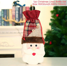 Christmas Decorations Santa Claus Wine Bottle Cover Stocking Gift Holder Xmas