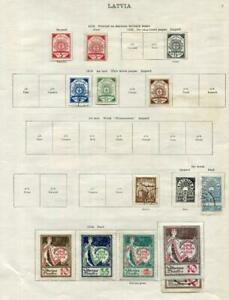 LATVIA: 1918-1920 Examples - Ex-Old Time Collection - 2 Sides of Page (41626)