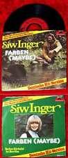 Single Siw Inger: Farben (Maybe) TV Der Mann in den Bergen (Polydor 2042 170) D
