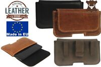 RICARDSSON WITH BELT CLIP AND LOOP GENUINE LEATHER HOLSTER POUCH CASE FOR PHONE