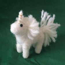 Fair Trade Felt Unicorn Keyring Animal Pendant Key Chain Bag Charm Unique Gift