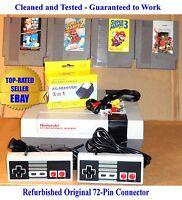Nintendo NES Console Bundle + Mario Bros 1 2 3 & Contra - Best Pins - Gauranteed