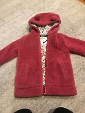 Girls Mini Boden Teddy Bear Fluffy Jacket Size 6-7