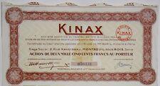KINAX ACTION DE 2500 FRANCS MONTREUIL SOUS BOIS 1949