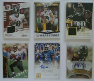 Pittsburgh Steelers 6 Card Lot Worn Jersey Auto Autograph T.J. Watt Bud Dupree +