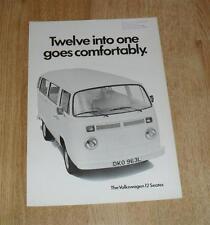 Volkswagen VW Transporter T2 12 Seat Minibus Brochure 1973