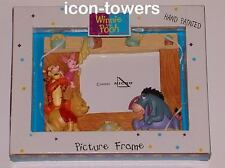 DISNEY PICTURE / PHOTO FRAME | Winnie the Pooh, Tigger, Eeyore, Piglet | RARE
