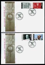 2000 Fermi,Nuclear,Piaf,Hillary,Mount Everest,UNO,Kiss gate,Romania, Mi.5504,FDC