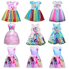 My Little Pony Kids Girls Dress Princess Party Birthday Tutu Dress Pageant Skirt