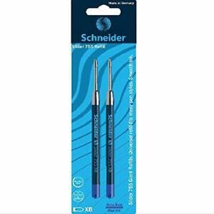 Schneider Slider 755 XB Ballpoint Pen Refill, Blue, Pack of 2 ()