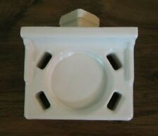 White Ceramic Toothbrush Tumbler Holder Tray Vintage