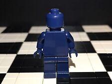 Lego Plain Dark Blue Minifigure Head Torso Hands Legs / Monochrome