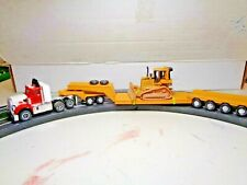 Custom Auto World Peterbilt Semi Truck with Lowboy Trailer. Ho Slot Car Aurora