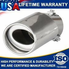 Universal Chrome Stainless Steel Round Pipe Tail Muffler Tip For Car Exhaust SUV