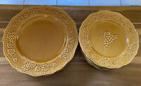 Pier 1 Harvest Gold Dessert Plates And Dinner Plates Total Of 10 Plates