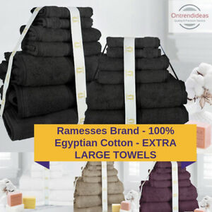 Ramesses 100% Premium Egyptian Cotton Extra Large Bath Sheet Towel Set 7/14PC