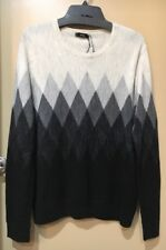 NWT Vince Women's Wool Linen Carbon Gray Sweater Size L Large