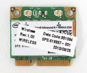 HP Pavilion Intel 6250 Wireless N Card DV6 DV7 DV7T DV7-50 DV7T-5000 DV7-4285DX