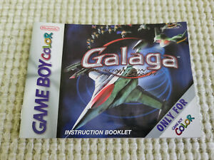 Galaga Destination Earth - Authentic - Nintendo Game Boy Color - Manual Only!