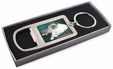 Birman Cat 'Purrrfect Daughter' Chrome Metal Bottle Opener Keyring in , PD-85MBO