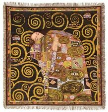 "NEW 60"" KLIMT FULFILLMENT ACCOMPLISSEMENT BELGIAN TAPESTRY THROW BED SPREAD 7143"