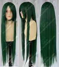 Sailor Moon Sailor Pluto Meiou Setsuna Dark Green Long Cosplay Party Wig Hair