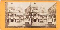 Italia Venezia Palais Dei Doge Ca 1870, Foto Stereo Albumina PL62L8
