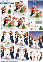 3D Motivbogen Etappenbogen mit vorgestanzten Motiven Pinguine (228)