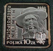 10 ZLOTYCH POLAND 2009 CZESLAW NIEMEN Square coin