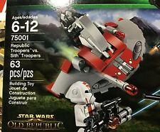 LEGO STAR WARS REPUBLIC TROOPERS vs. SITH TROOPER 75001 NEW IN FSB  63 PCS
