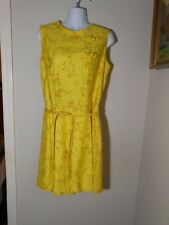 VTG Evelyn Pearson Lounging Apparel Yellow Figured Silk Asian Styled Culottes