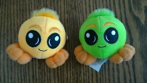 2004 Neopets McDonald's GREEN, YELLOW JUBJUB Plush (2), one with Star Tag