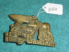 Solid Brass Baron Buckles 1980 Harley Davidson Motor Cycles Belt Buckle