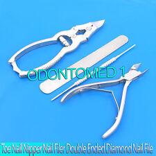 Toe Nail Nipper Nail Filer Double Ended Diamond Nail File Podiatry,Bts-90