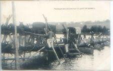 CP Militaria - Passage de voitures sur un pont de bateaux - Belgique