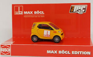 """BUSCH  48900-182 Spur H0 Smart Fortwo Coupe """"Max Bögl Edition"""" Sonderserie #NEU#"""