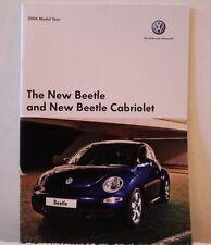 Volkswagen VW New Beetle & Cabriolet UK Sales Brochure For 2006 Model Year
