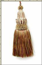 "Castellano Beltrame SAND Aqua Green Cinnamon Shades 7""  Decorative Key Tassel"