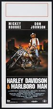 LOCANDINA, HARLEY DAVIDSON & MARLBORO MAN, ROURKE, MOTO CUSTOM FXSR POSTER CAR B