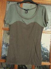 H&M Women's Cotton Blend Stretch Waist Length Tops & Shirts