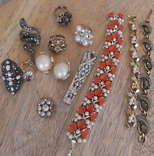 LOT OF GOOD QUALITY COSTUME JEWELRY WITH MISSING STONE