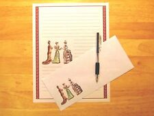 Victorian Ladies Stationery Writing Set With Envelopes - Lined Stationary