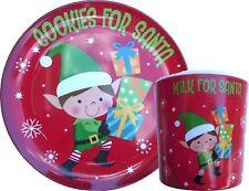 """Cookies For Santa"" Plate and Mug: Melamine Wares Elf Design"