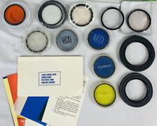 Vtg Mixed Lot Brands 35mm Camera Lens Filters Hoods Hoya Minolta Tiffen Rolev